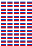 Russia Flag Stickers - 65 per sheet
